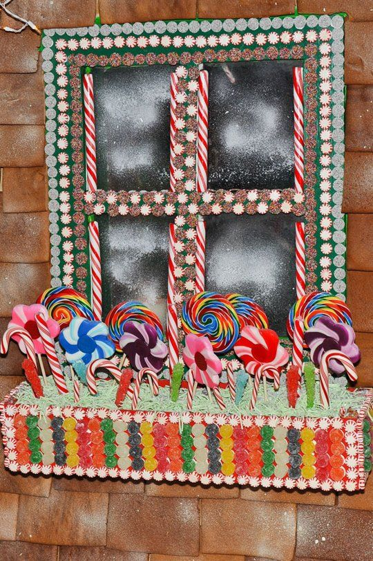 Look! Life-Sized Gingerbread Houses  or even LARGER life-sized decoration ideas my front porch, flowerbox, and window!