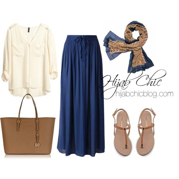 hijabchicblog.com by hijab-chic on Polyvore featuring H&M, Cotélac, Sole Society, Michael Kors and Tory Burch