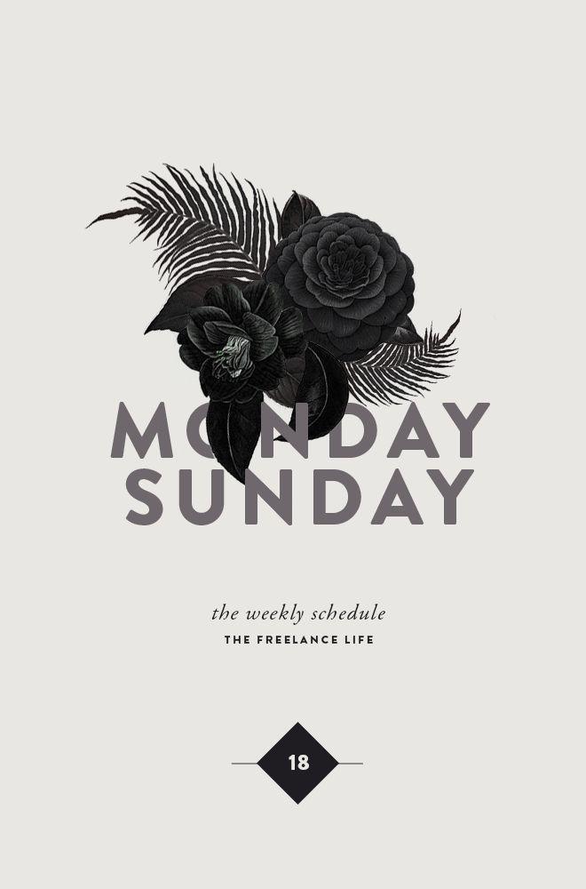 Monday Sunday Layout
