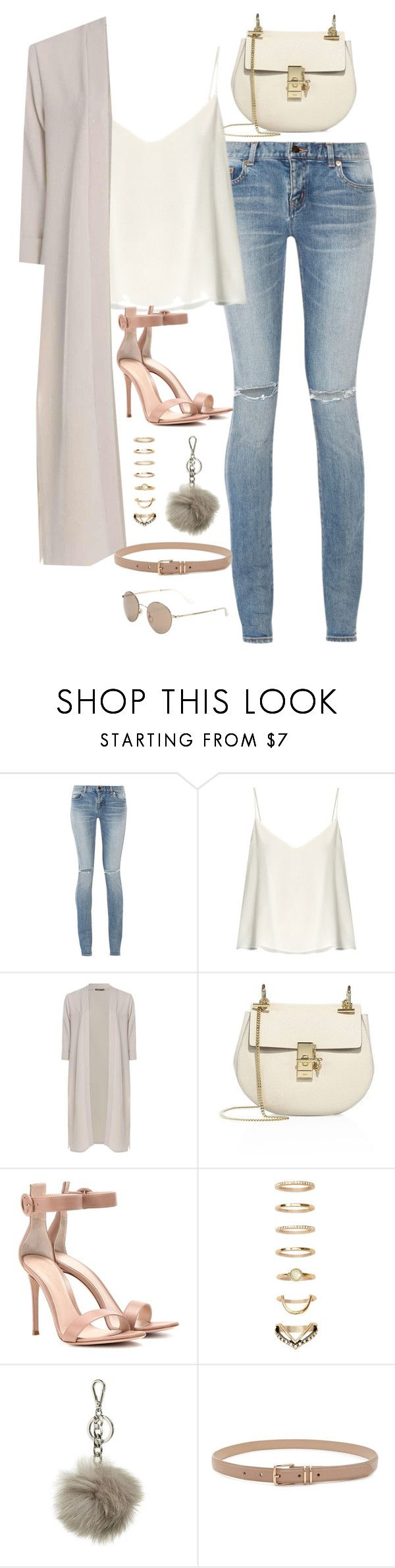 """""""Sem título #5003"""" by fashionnfacts ❤ liked on Polyvore featuring Yves Saint Laurent, Raey, Boohoo, Chloé, Gianvito Rossi, Forever 21, MICHAEL Michael Kors and Gucci"""
