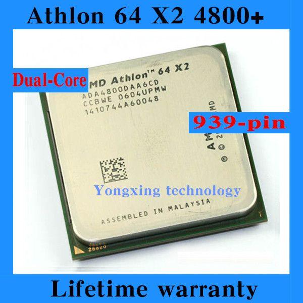 Lifetime warranty Athlon 64 X2 4800+ 2.4GHz 2M Dual Core desktop processors CPU Socket