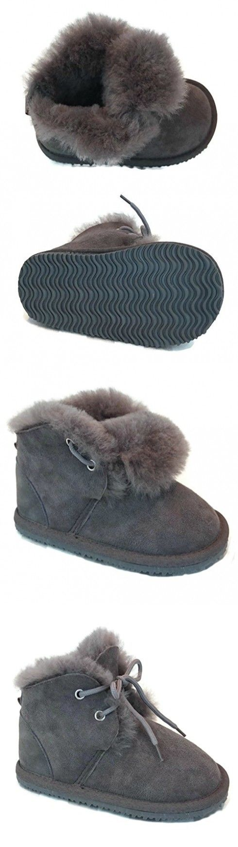 Cool Beans Sheepskin Childrens Warm Fur Winter Snow Boots ( Boys, Girls : Baby / Toddler size 6 )