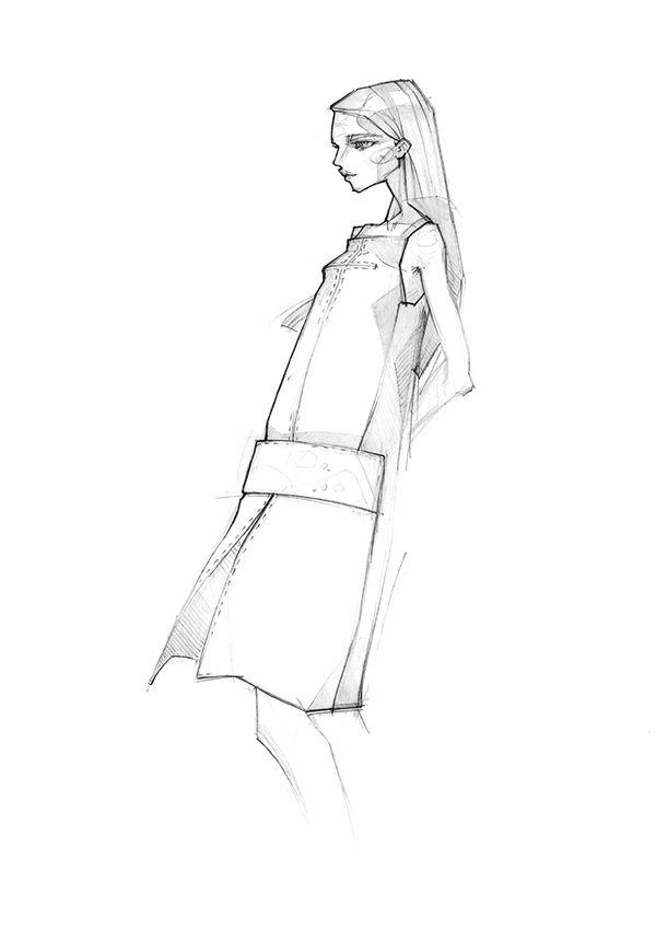 Fashion illustration for spring 2015; fashion design drawing; dress sketch // Milan Zejak