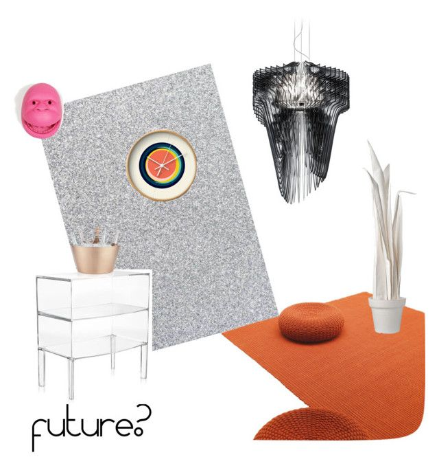 """future?"" by tarekzg on Polyvore featuring interior, interiors, interior design, hogar, home decor, interior decorating, Kartell, Slamp, Crate and Barrel y Wandschappen"