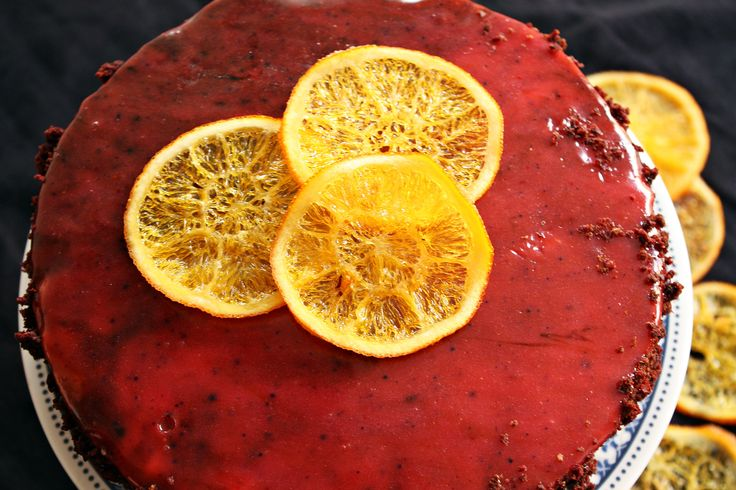 Red&brown velvet cake z kremem pomarańczowym i plewą lustrzaną