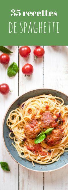 """Voici donc une sélection de recettes autour des pâtes parmi les plus classiques : les spaghettis. Bien sûr, libre à vous d'essayer ces recettes tantôt à la viande (bolognaise, alla carbonara...), aux fruits de mer (alle vongole, au saumon fumé...), aux légumes, au fromage, avec d'autres pâtes de votre choix. On a même retrouvé la recette des spaghettis aux boulettes de viandes qui ont bercé notre enfance dans """"La Belle et le Clochard"""". Des recettes qui mettront donc petits et grands…"""