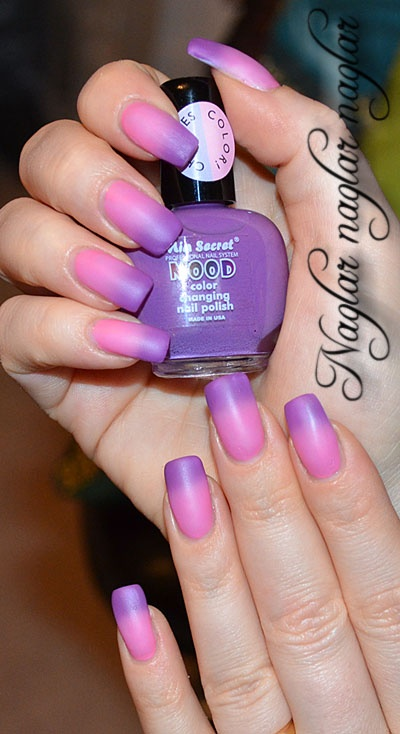Mood polish, changes colour depending on temperature.