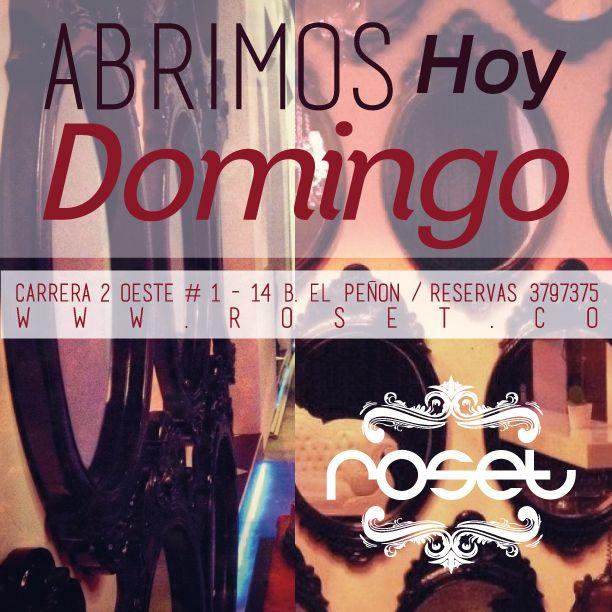 DOMINGO DE ROSET!!. Ven y comparte este día con tus amig@s y disfruta del mejor ambiente de la ciudad!!