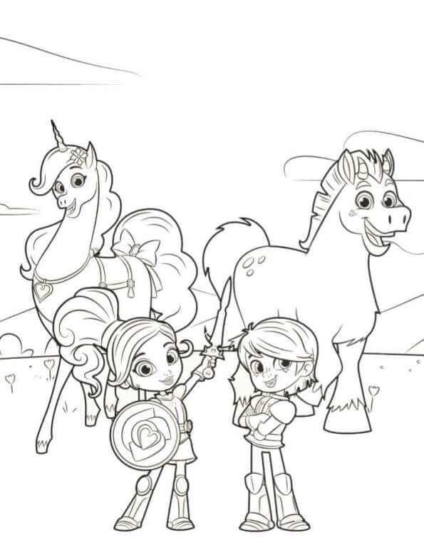 Nella Garret Trinket Clod Coloring Page Princesas Colorir