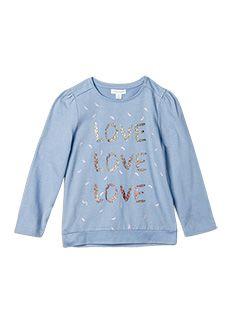 Girlswear Love Graphic Tee Blue Allure -