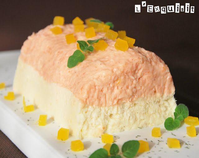 Mousse de salmón y bacalao con gelatina de naranja