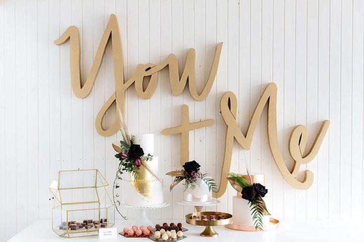 modern metallic wedding cakes