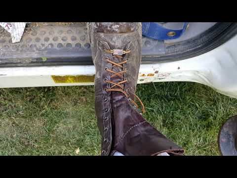 How I lace my  Hoffman Boots - YouTube