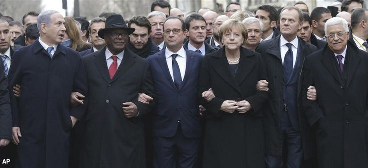 World leaders walked arm-in-arm during #ParisMarch in defiance of terrorist attacks: http://on.wsj.com/14J8tPe