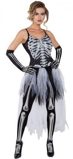 adult sexy skeleton dress halloween costume sexy dress up skeleton underwraps dress - Unique Halloween Costume Women
