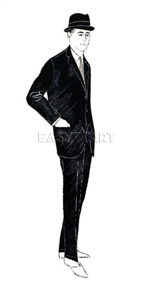 Male Fashion Figure, c.1960 - Any Warhol www.easyart.com
