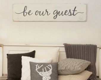 Be our guest rustic wood sign guest room sign by CherieKaySigns