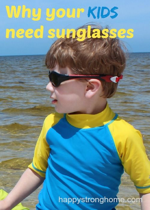 Why you should get sunglasses for kids - they are at greater risk for sun damage to eyes than adults! Protect their eyes with UV rated shades this summer!