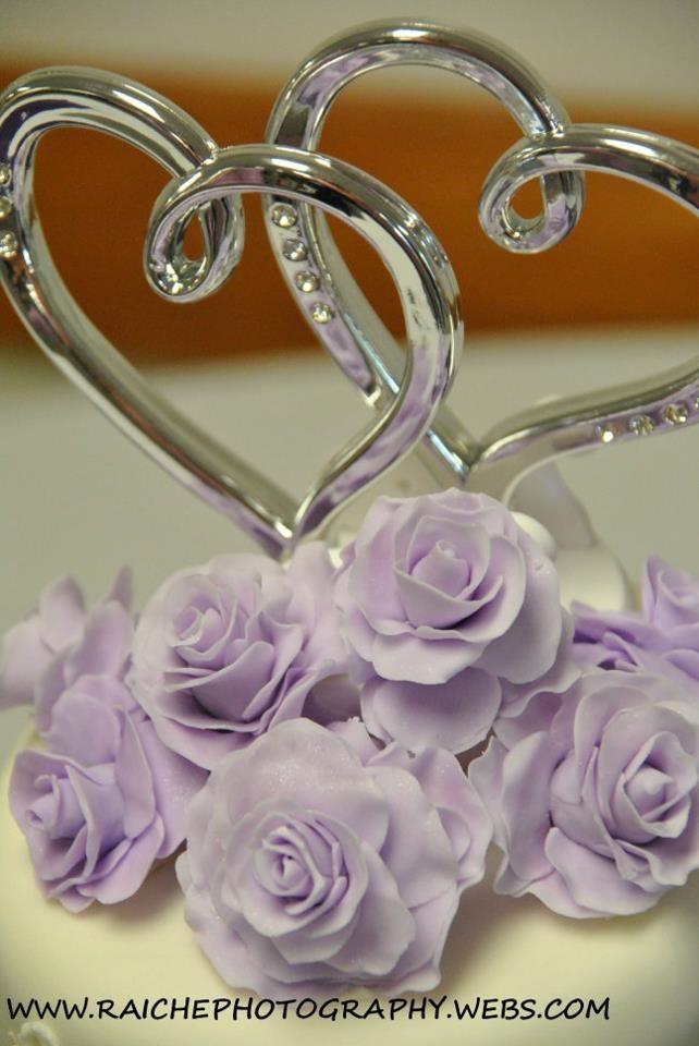 Purple Hearts Wedding Purple Rose dou...