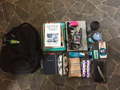 What's in my college backpack?  from The Legal Duchess