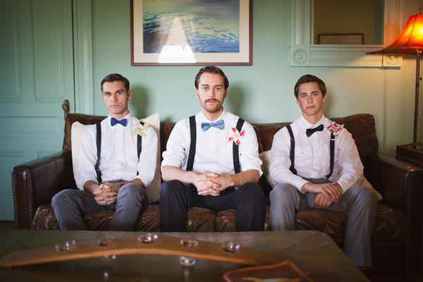 Whimsical Circus Wedding/retro grooms looks