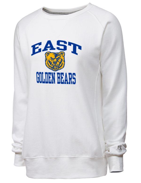 east high bears t-shirts youngstown, ohio   East High School Golden Bears Russell Athletic Women's Crewneck Sweatshirt   Prep Sportswear