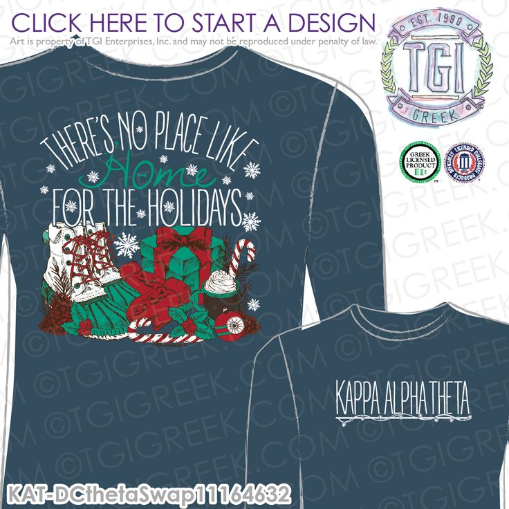 Kappa Alpha Theta | KAT | ΚΑΘ | Christmas | Sorority T Shirt Swap | Sorority PR | Sisterhood | TGI Greek | Greek Apparel | Custom Apparel | Sorority Tee Shirts | Sorority T-shirts | Custom T-Shirts