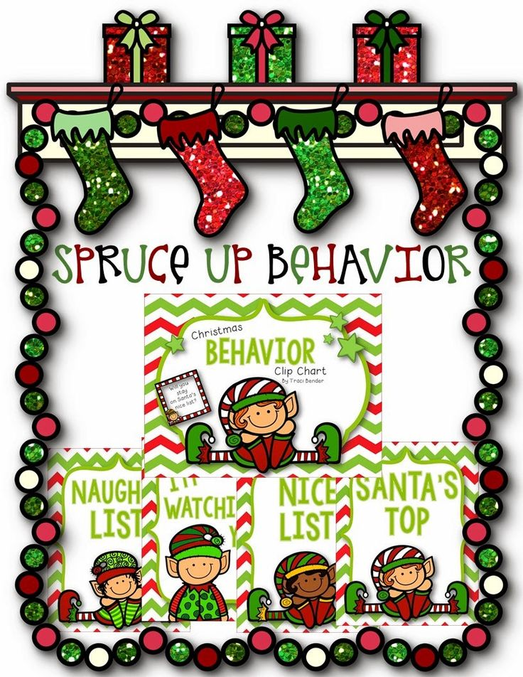 Christmas Themed Behavior Clip Chart Can You Stay On