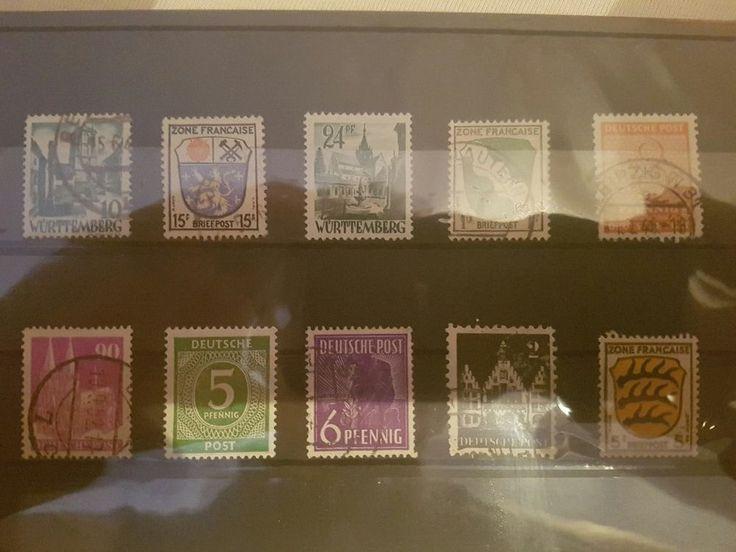 Alte Briefmarken - Deutsche Post & Zone Francaise - Gestempelt und Postfrisch