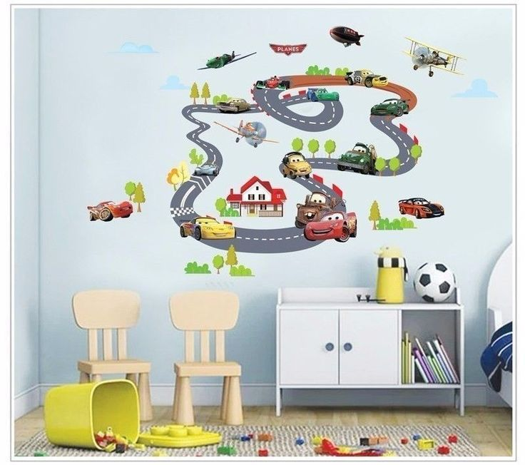 Disney Cars Airplanes Racing Wall Sticker Removable Nursery Art Boys Decal  Mural #Unbranded Part 85