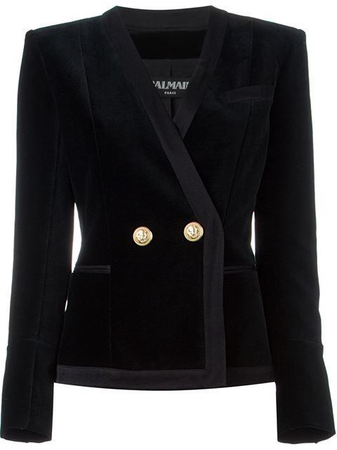 Balmain velvet fitted blazer