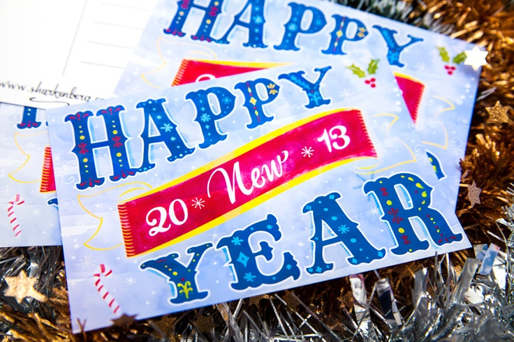 Happy New Year Postcard  $0.75