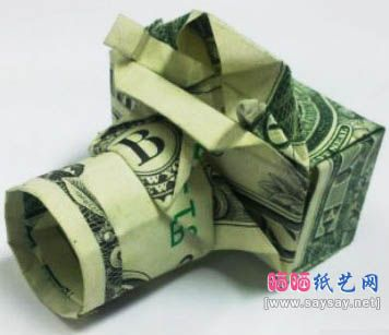 Origami Money Camera...might be a little to much to try.