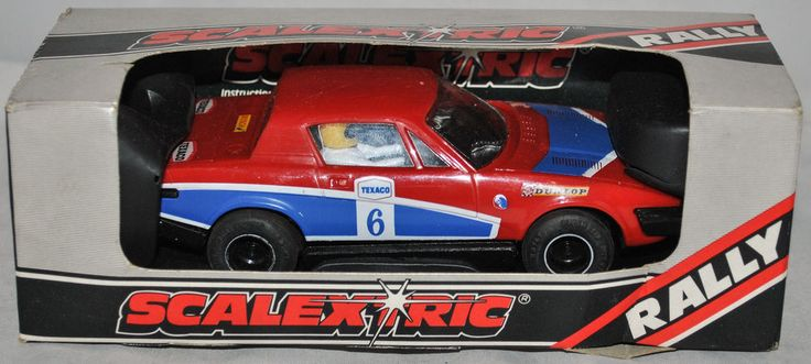 Car Toys Aurora Co: Vintage SCALEXTRIC Rally C.130 Triumph TR7 Car In Red
