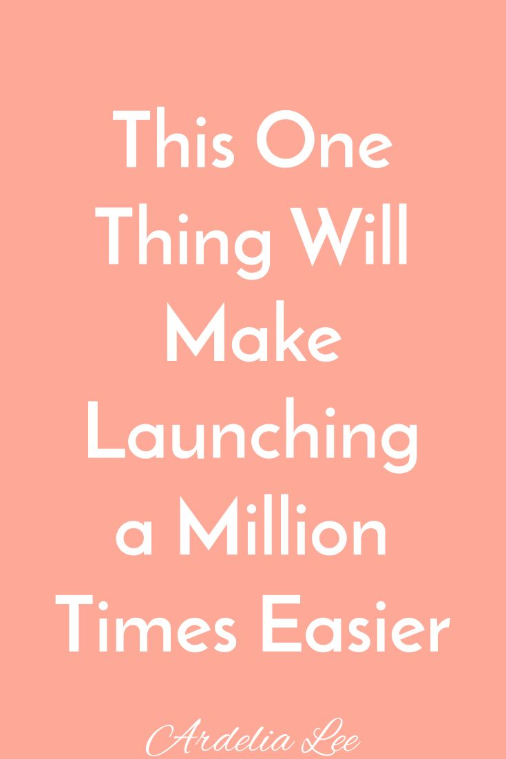 For solopreneurs and small businesses, launching a program, product, or service is intense, hard work. You can see how your launch ends - happy client, goals met, bank account full - but you don't know how you'll get there. Instead you slog through your launch wishing there were a better way. Well, there is. This one thing will make launching a million times easier. Click through to see how you can simplify your launch and leave the stress behind.