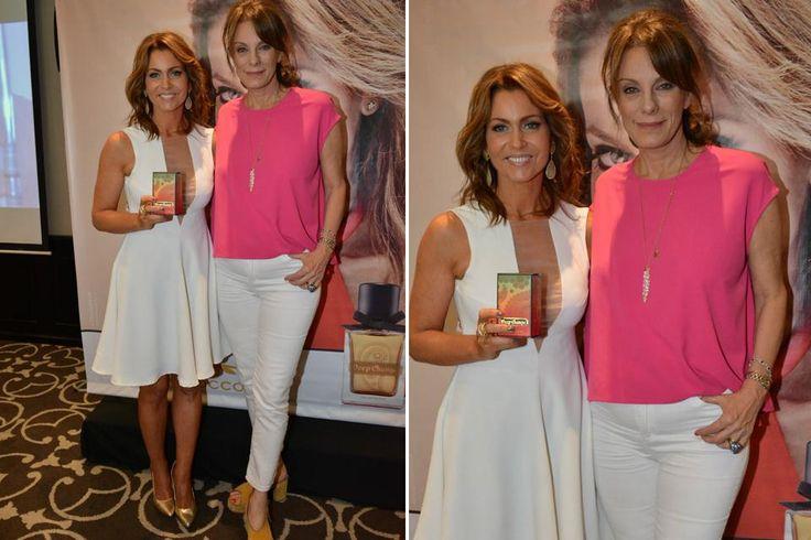 Ohlaleando: mirá lo que se puso Mónica Antonópulos  Karina Mazzocco y Nequi Galloti muy divertidas en el lanzamiento del nuevo perfume de Mazzocco