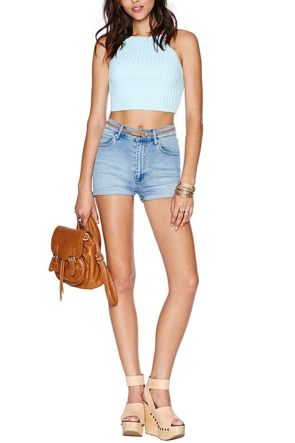 Solid Color Ribbed Knitted Crop Top @ Sexy Crop Tops,Cropped Tops,Cheap Crop Tops,Long Sleeve Crop Tops,Cute Crop Tops,Bustier Crop Tops,White Crop Tops,Striped Crop Top,Off the Shoulder Crop Tops,Black Crop Top