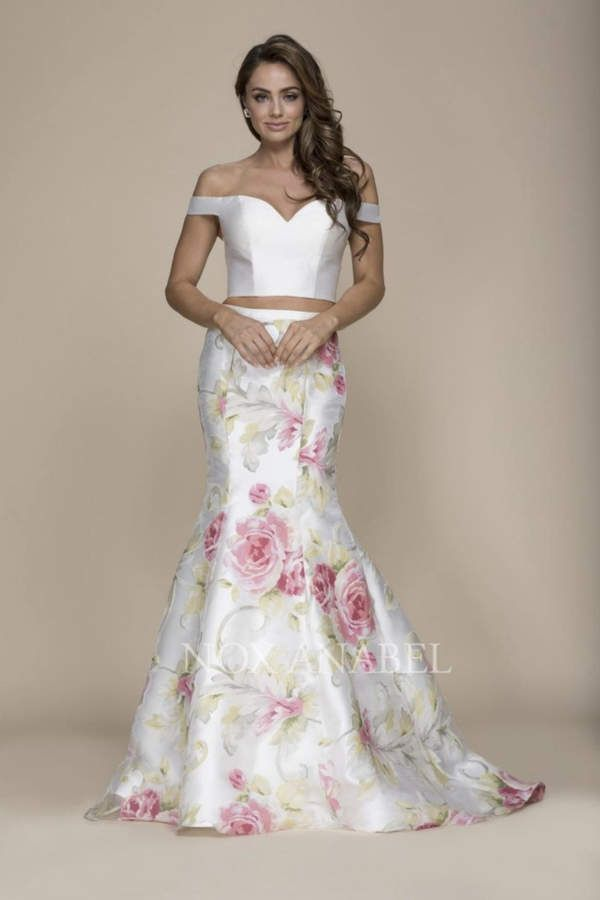 71149542f5ab5d NOX A N A B E L Two-Piece Off-Shoulder Formal-Dress