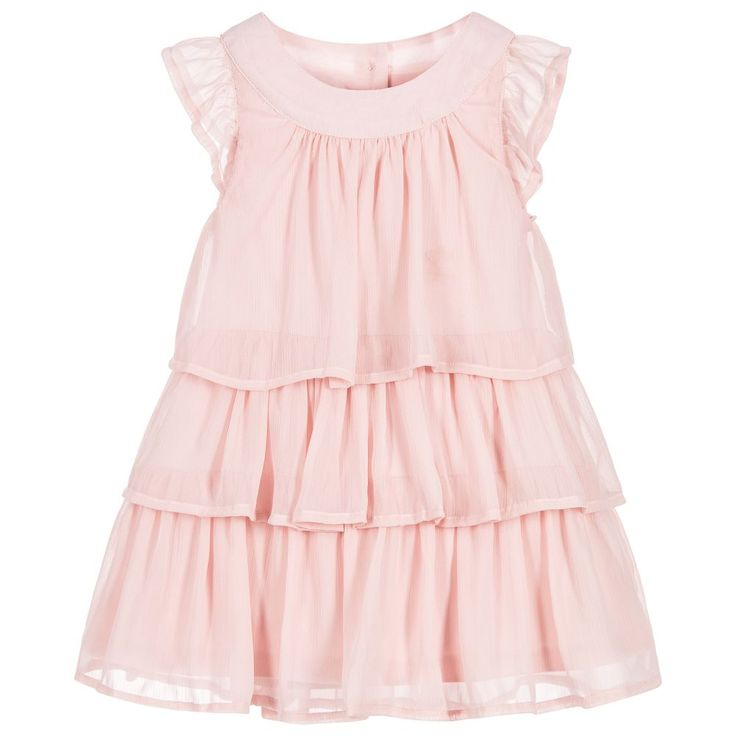 iDo Baby - Baby Girls Pink Georgette Dress | Childrensalon