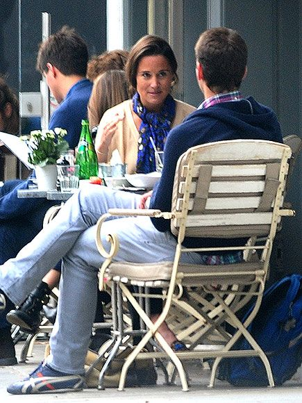 Princess Kate's sister, who is dating investment banker Nico Jackson, grabs a bite with former cricket pro Alex Loudon