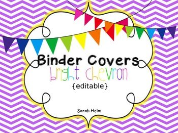 Free editable binder covers in all sorts of colors!
