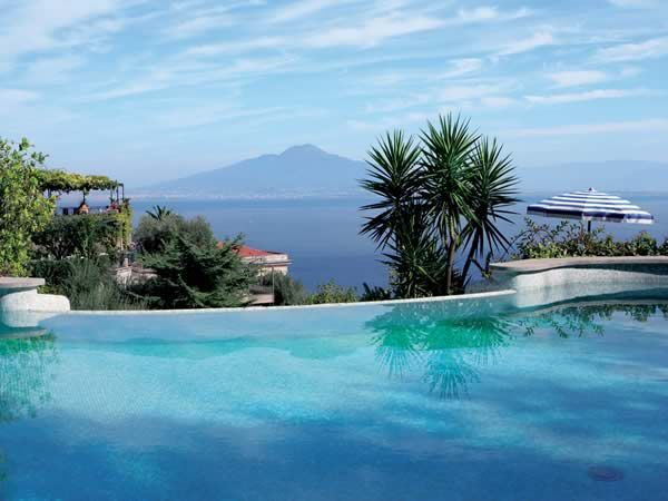 Would love to be in a nice, sunny spot right about now. Hotel Capodimonte, Sorrento, Italy