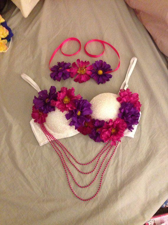 34B Sparkling RAVE bra for EDC by ExoticDaisy on Etsy