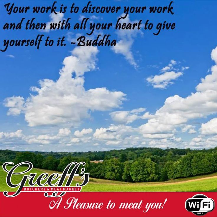 Your work is to discover your work and then with all your heart to give yourself to it. -Buddha #Sunday #motivational #quote
