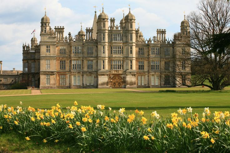 Daffodils abound in the gardens at Burghley House, Lincolnshire, uncredited