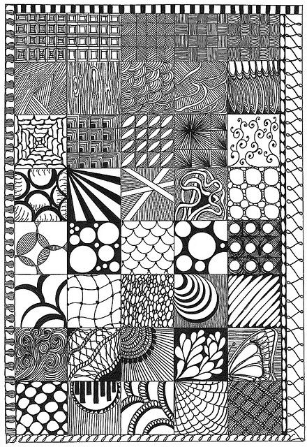 11.03.08 This is much better viewed large. I wanted to create a sampler of some of the designs I have been using lately. Thanks for looking. By tropicalart77 on Flickr --- Tangles, zentangle, doodling, drawing