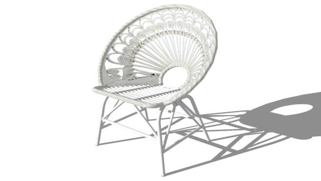 PeacockFauteuil Rotin Preview 3d En Model Of Vintage Large 2EDIYWH9