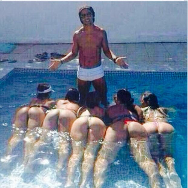 Ronaldinho Gaucho at home after working out with Atletico Minero a few hours a day