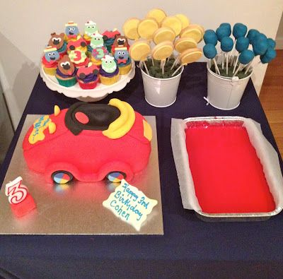 Wiggles Edibles - Big Red Car Cake, Decorative Cupcakes, Cake pops and Sugar Biscuits