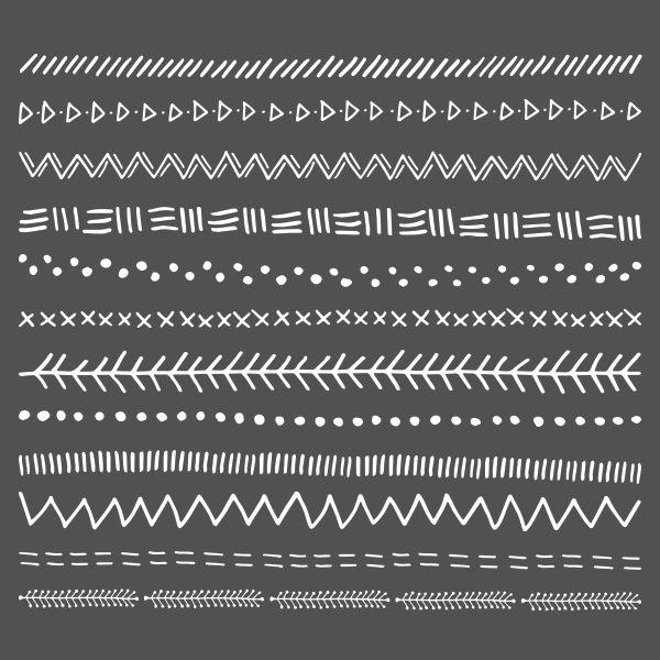 FREE Tribal Doodle Borders  - The Paper Pegasus